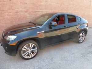 2010 BMW X6 M 555 H.P MONSTER -- BLACK ON RED LEATHER