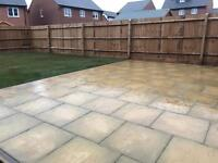Fencing, slabs, turf, garden clearance,trees, gravel fence panels. Decking