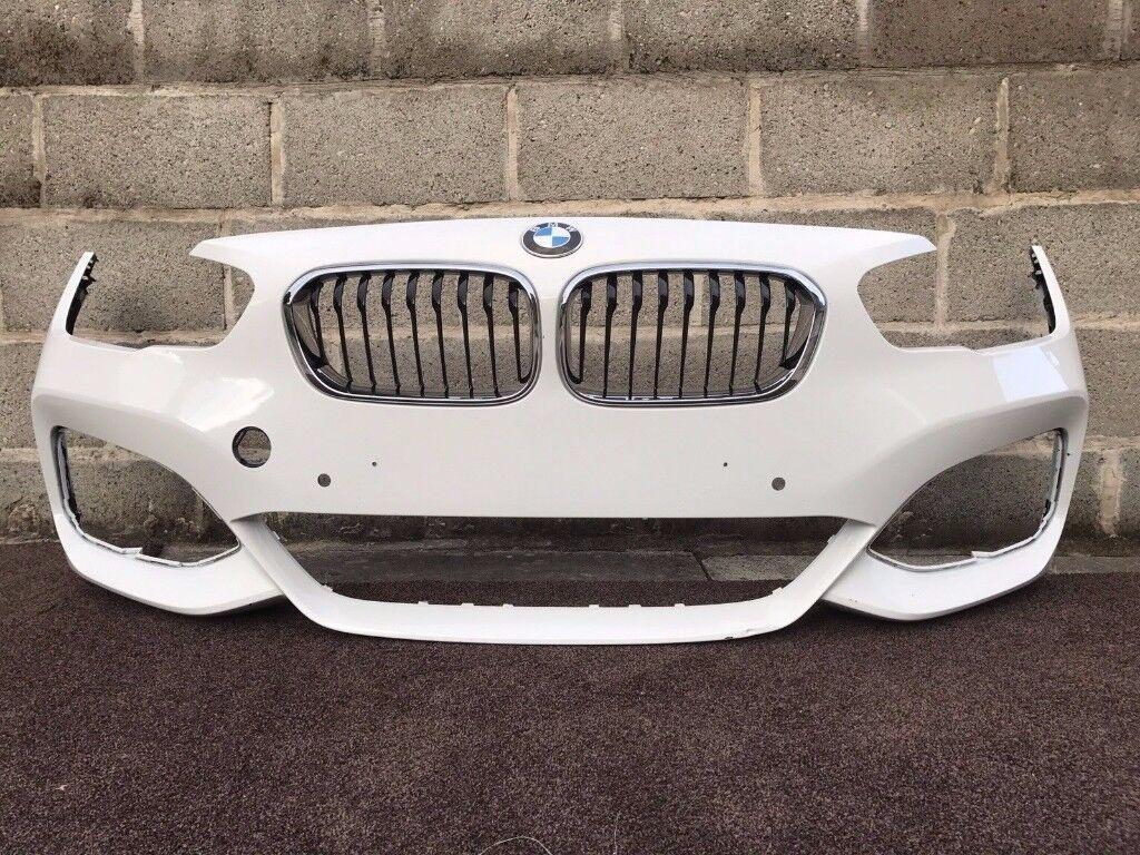 2016 BMW 1 SERIES F20 LCI - M SPORT FRONT BUMPER inc KIDNEY GRILLS - V Good Cond