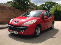 *PEUGEOT 207 1.4 SPORT 2009 58 REG* RED 5 DOORS FULL SERVICE JUST COMPLETED, 12 MONTHS M.O.T