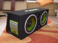 """Fusion 12"""" Sub Woofers with Amplifier"""