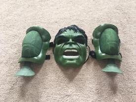 Hulk mask and dress up muscle straps