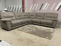 Beautiful brand new Harvey's grey corner sofa