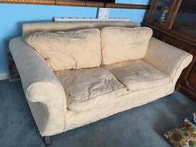 2 x 3 seater settees, one is a bed settee - very comfortable