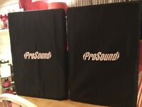 "Prosound 15"" disco speakers with covers (1000watts of power) passive x x x x x x x x x x x x x x x x"