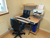 Computer Desk, Work Station With Chair Included
