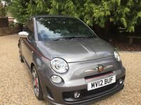 Abarth 500 CONVERTIBLE 1.4 T-Jet. Full leather interior FSH Low Mileage
