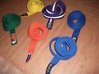 karate belts or judo aikido etc £2 each