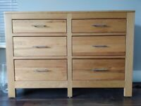 Solid Oak 6 Draw Sideboard, Excellent Condition