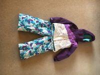 Trespass Girls' ski jacket & salopettes