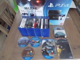 Sony Playstation 4 games x27 with Tritton AX Pro headset for sale.