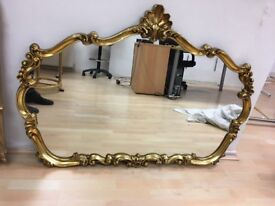 Gold Antique Looking Mirror