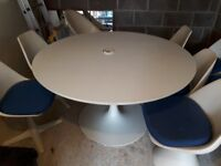 Rare Arkana 1960's Tulip Style Dining Table + Matching Chair Set