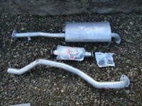 Isuzu trooper exhaust centre silencer, Catalytic converter and tail pipe all new