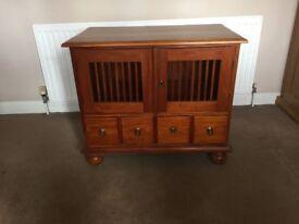 Wooden cabinet, possibly Teak