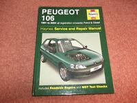 PEUGEOT 106 HAYNES MANUAL 1991-2004