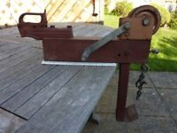 Vintage hand crank winch for boat or light caravan with towball mount