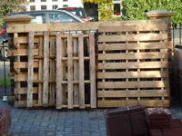 wooden pallets - free to collect - molesey in surrey