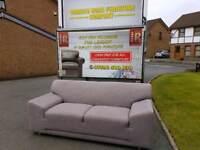 Creations grey material sofa