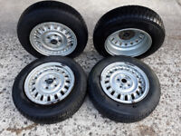 "Lancia Alloy Wheels - Set of 4 Cromodora 5.5J 14"" alloy wheels."