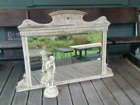 Antique Painted Overmantle Mirror