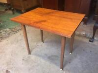 Retro Tall Collapsable Teak Coffee Table with screw on legs