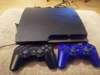 PS3 500GB slim model with two controllers