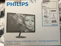 "Philips 21.5"" 1080p Monitor with built in Speakers"