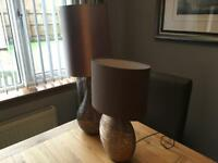 Next table lamps x2