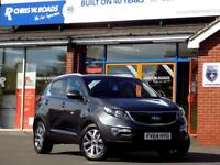 KIA SPORTAGE 1.7 CRDi 2 ISG 5dr * Pan Roof * ** Pan Roof + Blue (silver) 2014