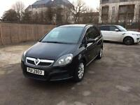 Vauxhall Zafira 7 Seater Private Plate 1.6 Petrol Black tinted Windows For Sale