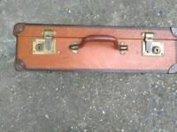 Antique wooden suitcase