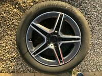 "GENUINE MERCEDES GLC COUPE AMG 19"" ALLOY WHEEL & TYRE 8Jx19 A2534015300 C253"