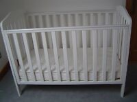 Mothercare Darlington cot. plus Stars & Moon mattress. Occaisionally used for visiting granchild.