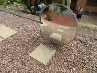 Circular convex security or architectural external mirror
