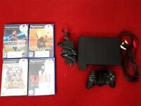 £10! Play 2 to be fixed with all accessories + memory card + 5 games included