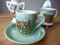 Four vintage Irish souvenirs. Job Lot price including Royal Stuart bone china. Retro illustrations.