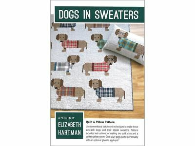 Elizabeth Hartman - Dogs in Sweaters Quilt Pattern Book - Patchwork Techniques