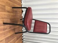 12 x Maroon / Red office chairs (Leather look seats)