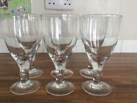 Set of 6 goblet wine glasses & set of 4 small wine glasses