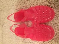 Size 5 Pink Ladies Jelly Shoes