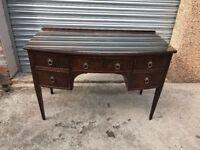 Mahogany dressing table or desk
