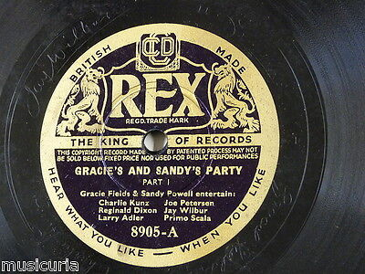 78rpm GRACIE & SANDY`S PARTY fields powell larry adler jay wilbur primo scala ++