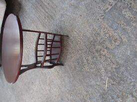 Mahogany side Table/Magazine rack