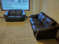 2 and 3 seat leather suite couch sofa