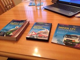 Official DVSA Theory test book for HGV, Driver CPC and Hazard preception