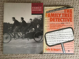 2 genealogy books:The Family Tree Detective,Rogers & The Oxford Guide to Family History, Hey.£2 bot