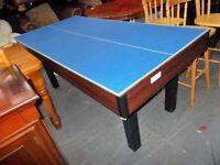 Snooker…Billiards…table tennis table…