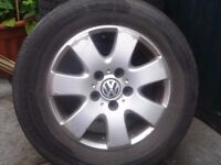 VW T5 Transporter shuttle wheels with tyres.