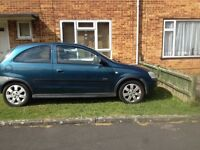 Vauxhall Corsa 1.2, starts and drives, no MOT.